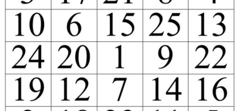 Работаем с таблицами Шульте.